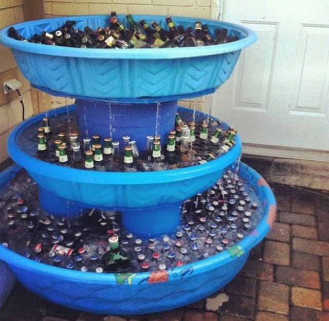 If you go to a party with this plastic beer fountain thing - I'm pretty sure there's no one else over thirty...and that doesn't live in a frat house...and won't loose something important before the night is over...