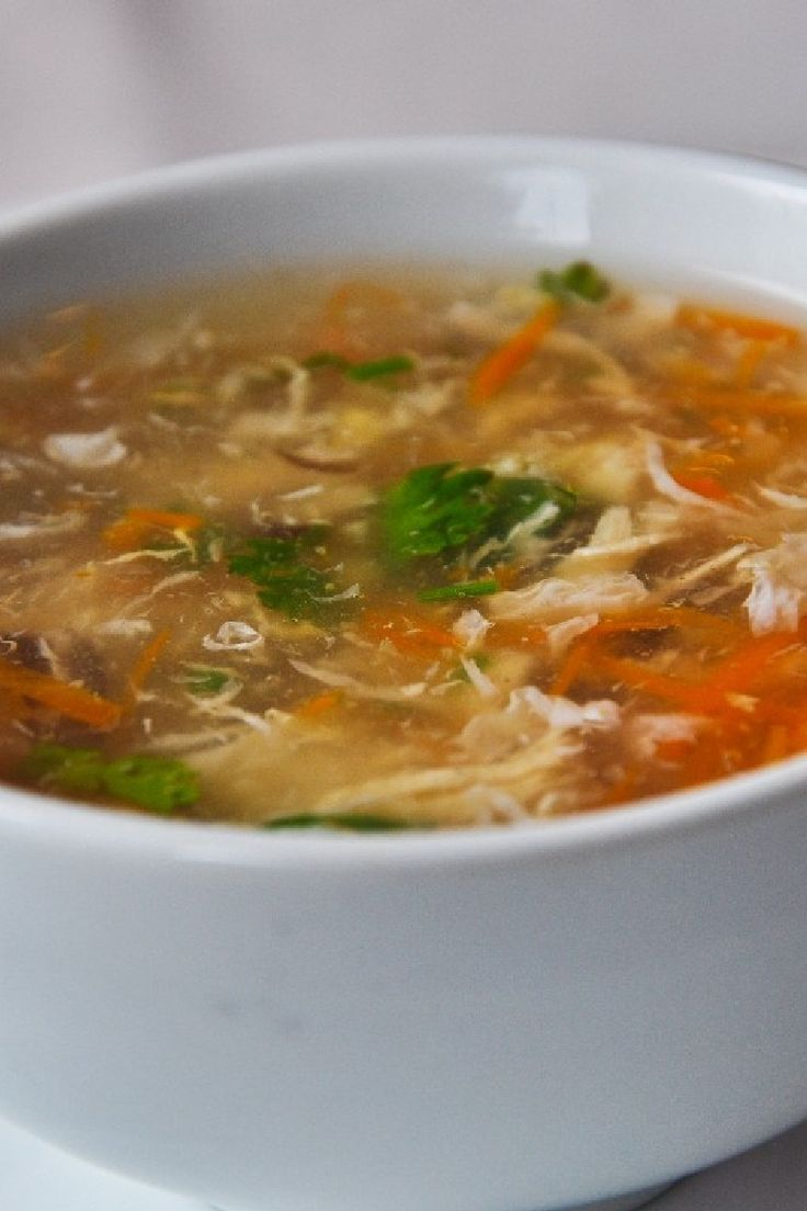 Asian Chicken Soup - Low Calorie, Low Fat, Gluten Free Chinese Soup Recipe  - Chicken, Mushroom, Snow Peas and Rice Noodles Soup #asianchickensoup ...