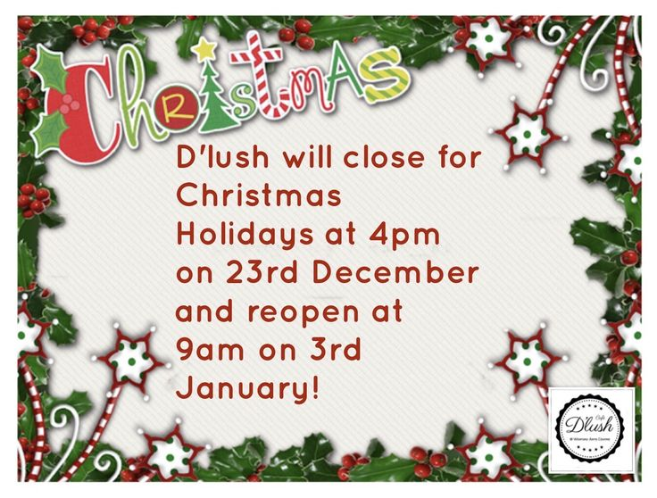 🎄❄️🎅🏼 NEWS FLASH 🎅🏼❄️🎄  From now until the 23rd Dec our opening hours will be as normal.... 🎅🏼 Monday- Friday 9am to 5pm  🎅🏼 Saturday 9am-4pm 🎅🏼 Sundays Closed
