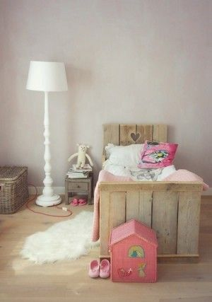 Super schattig sloophouten bed voor kids #kinderkamer | Lovely little bed for kids