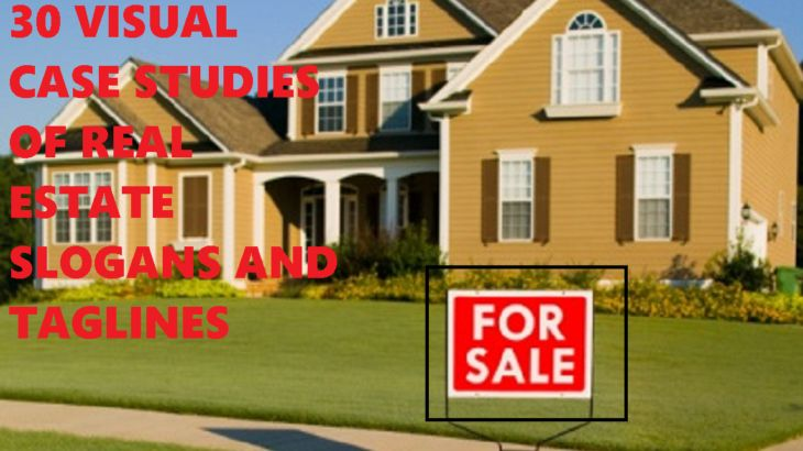 Examples of real estate slogans.