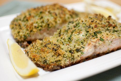 Ina Garten's Panko-Crusted Salmon.  Try it and thank me later.