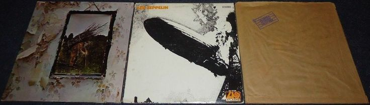 http://custard-pie.com Lot of 3 Led Zeppelin Records!!! (Zoso, Self Titled & In Through The Out Door) #Rock
