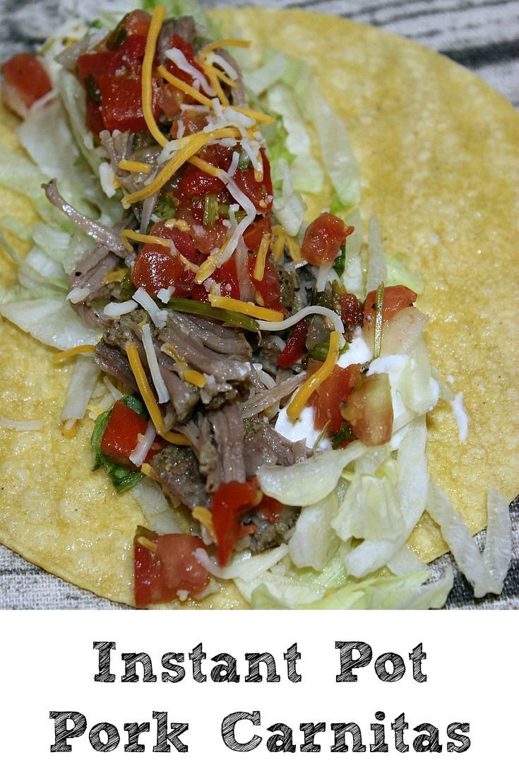 These Instant Pot Pork Tacos are sure to be a hit with your Taco Tuesday!! Quick and easy to make the whole family will love this easy frugal dinner!  ad