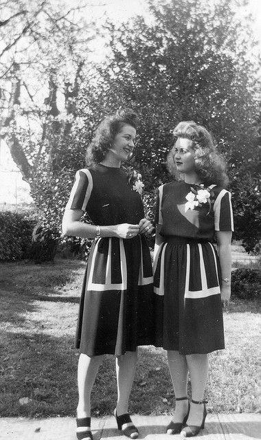 Easter Dresses, 1944, via Flickr.