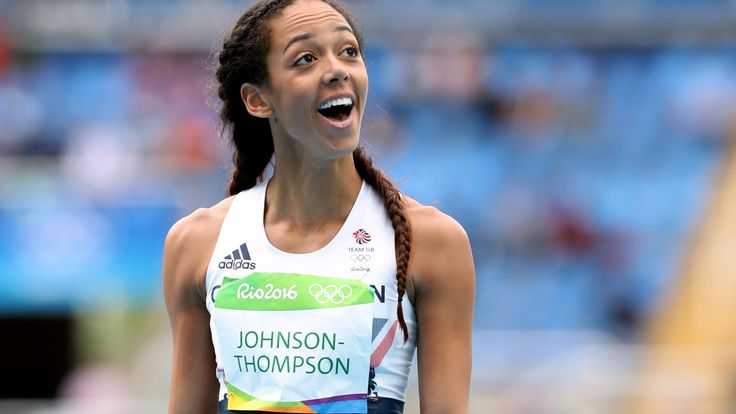Katarina Johnson-Thompson took the lead in the Olympic heptathlon today after making a British record high jump clearance of 1.98m.