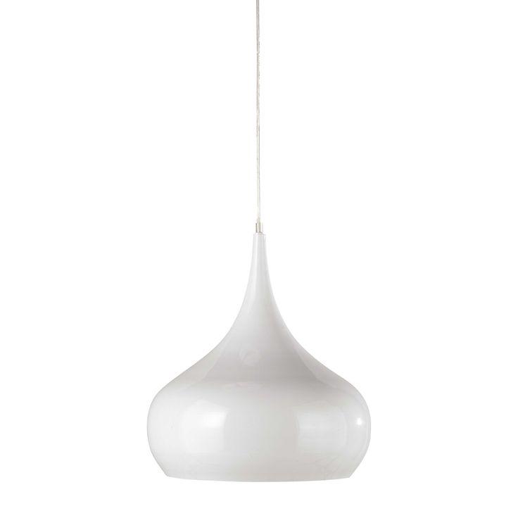 NOVA metal pendant lamp in white D 42cm
