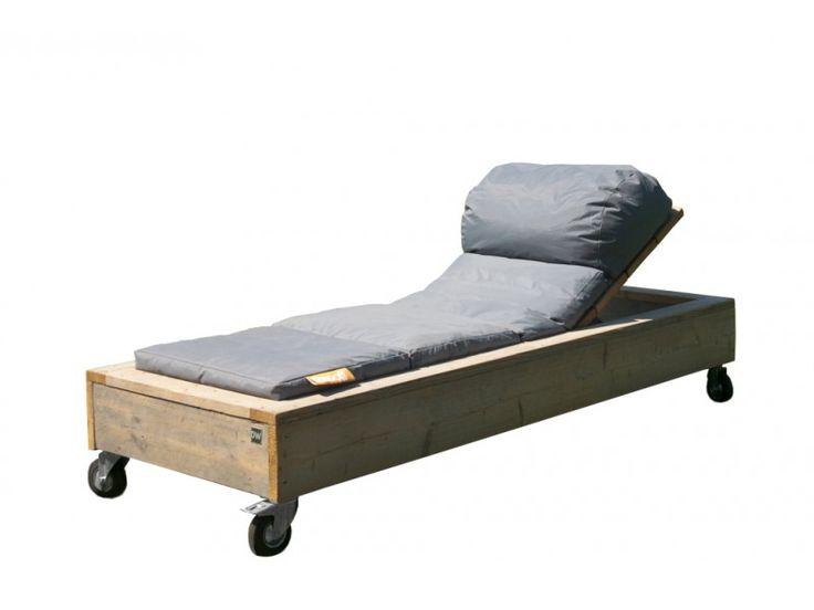 Ligbed   Steigerhouten meubelen bij NuBuiten