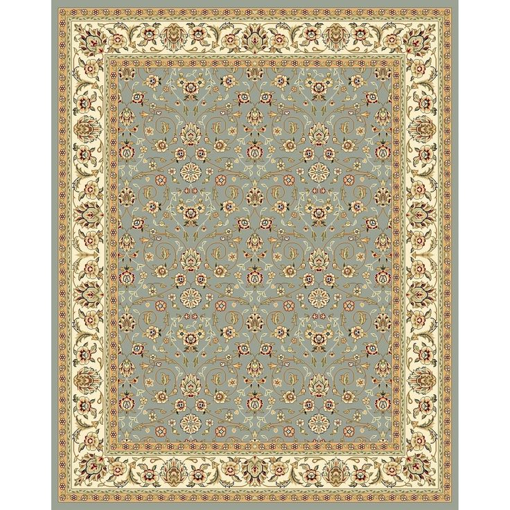 Safavieh Lyndhurst Traditional Oriental Light Blue/ Ivory Rug (11' x 15') | Overstock.com Shopping - The Best Deals on Oversized Rugs