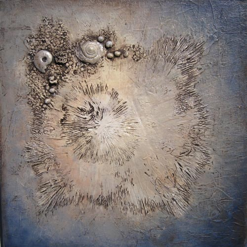 Mixed Media/Low Relief painting by Betsy Lewis Mandala