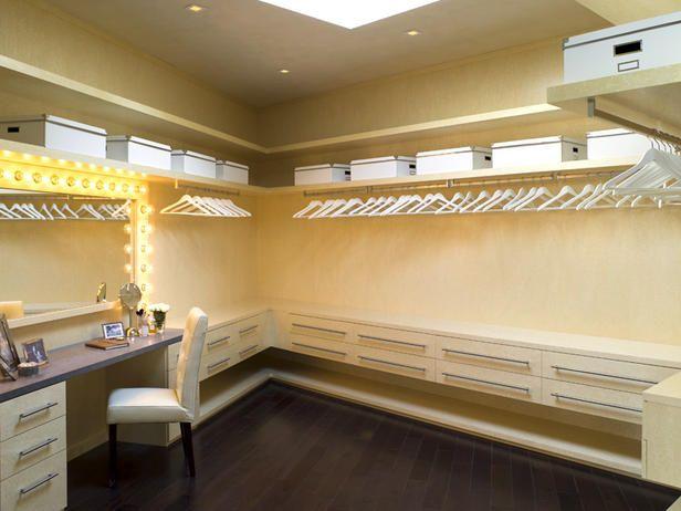 vanity in the closet!