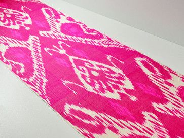 3 yards of handmade pink ikat fabric eclectic-upholstery-fabric