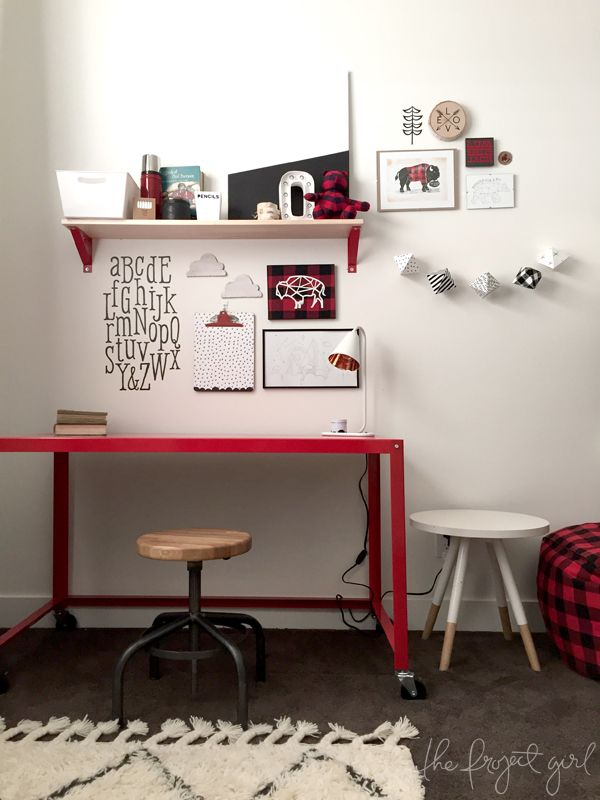 Cricut Design Space Star -- The Project Girl Lumberjack Bedroom  -- #DesignSpaceStar The Final Five