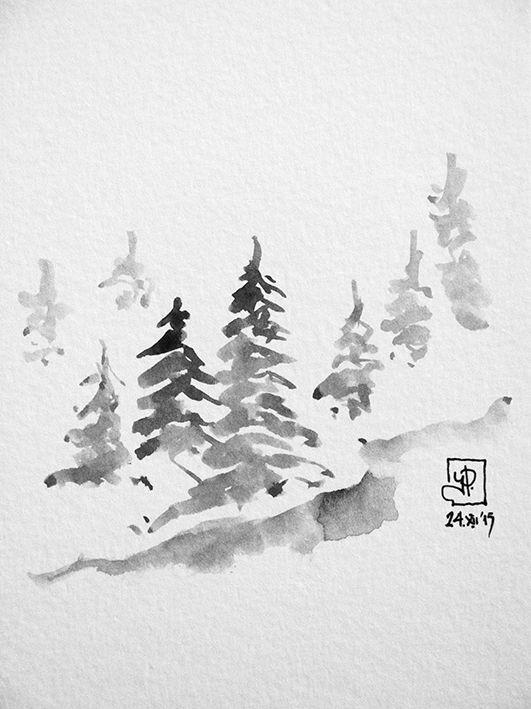 Xmas card. sketch by Harry Papaioannou, Xmas 2015