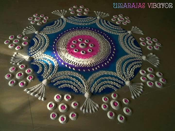 Meer dan 1000 idee n over rangoli patterns op pinterest for Door rangoli design images new