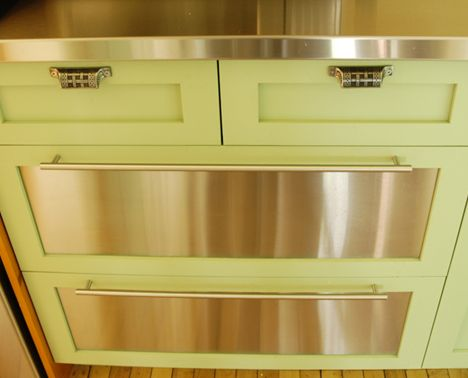 Custom, Made To Order, Stainless Steel Kitchen Cabinets And Drawers