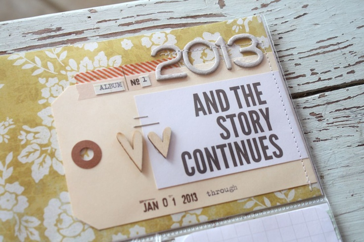 More scrapbook inspiration by Michelle Wooderson. The stitching! (I don't scrap using divided pages, though.)