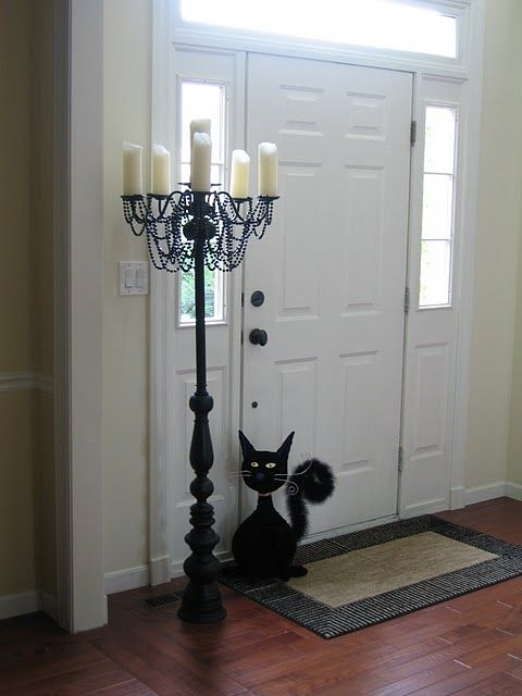 DIY halloween candelabraDecor, Ideas, Diy Candelabra, Diy Halloween, Candles Holders, Guest Projects, Thrift Stores, Halloween Candelabra, Pvc Pipe