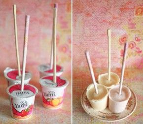 Frozen Yoghurt popstickles!