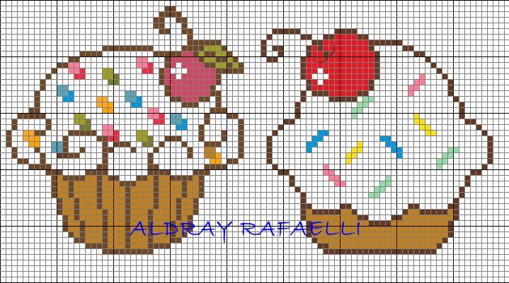 Cupcakes perler bead pattern by  Drayzinha