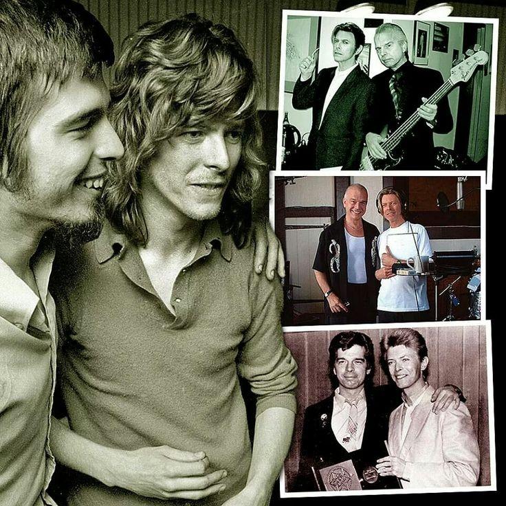 David Bowie with Tony Visconti
