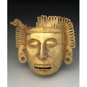 Pectoral maskette, Mexico  Date: c. A.D. 1350-1521