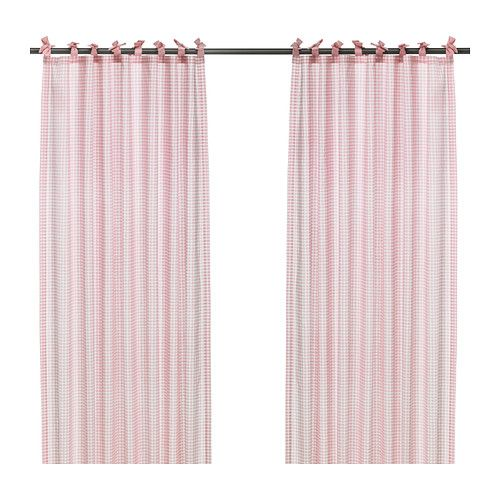 NYVAKEN Pair of curtains   - IKEA I'm thinking these would look good in Torie's room since she's getting older