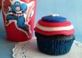 Blue Velvet Cupcakes - Captain America