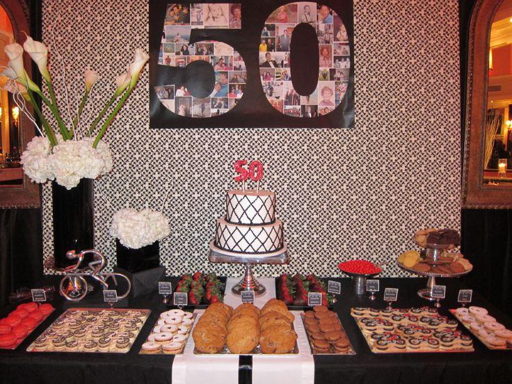 50th Birthday Dessert Table Dessert Tables Pinterest