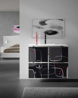 Cubreradiador original Tetra Abstracto Diseño abstracto y contemporáneo con los colores mas clásicos, haciendo un ambiente interesante.