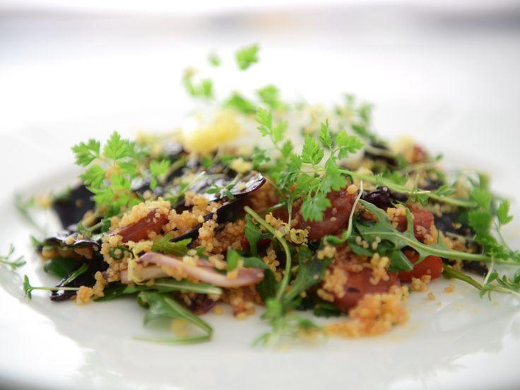 Couscous med chorizo och citronyoghurt | Recept från Köket.se