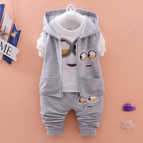 2016 Autumn Baby Boys Minions Suits - SA boutique Shop