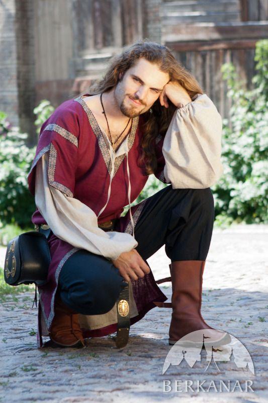 Классическая мужская средневековая туника с овертуникой от Берканар. Мечты о средневековье