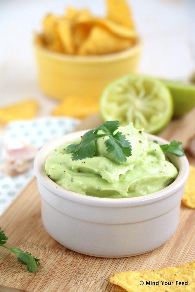 Avocado dip met koriander - Mind Your Feed #avocado #dip #spread