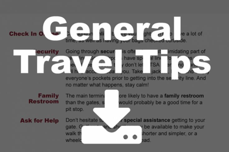 General Travel Tips | The Scott Center for Autism Treatment