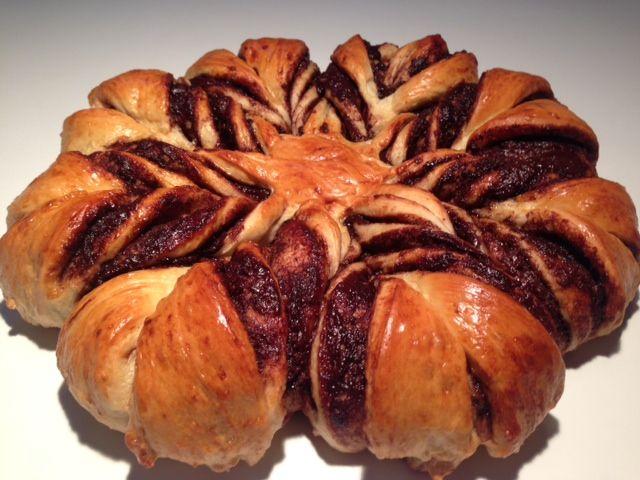 Nutella stjerne - Smuk kage - Opskrift-kage.dk