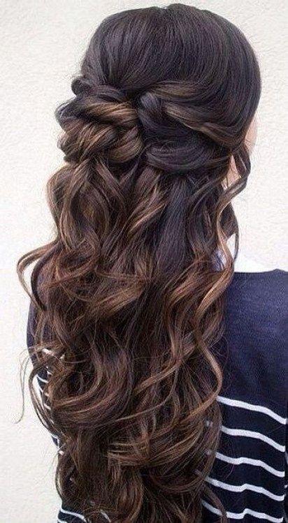 Half up half down hairstyles (97) #weddinghairstyles