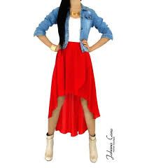 Resultado de imagen para falda capas en cola de pato y crop top