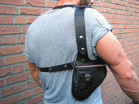 Attention all men  Now is no more cluttered pockets along the way for you, because here is the accessory for those who are from the chest bag age out sit on every party s... #holster