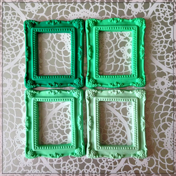 MINT SET Miniature Picture Frames -mini frame, party favour, invitation, bridal, selfie frame, scrapbooking, kitshy, shabby frame, gilded by Scruffyrumpkins on Etsy