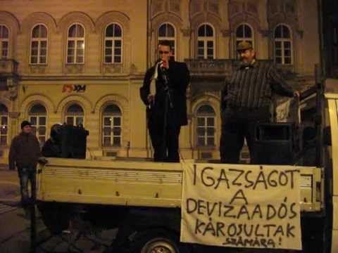 """Vissza a selyemzsinórt """"devizaadós"""" demonstráció 2014.12.19. 2/2"""