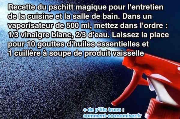 Mon Pschitt Magique Pour Nettoyer Cuisine & Salle de Bains Efficacement.