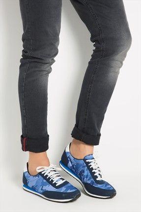 Sezonun Mont Trendleri - Mavi Kamuflaj Ayakkabı 476-M100 MK1 %56 indirimle 39,99TL ile Trendyol da