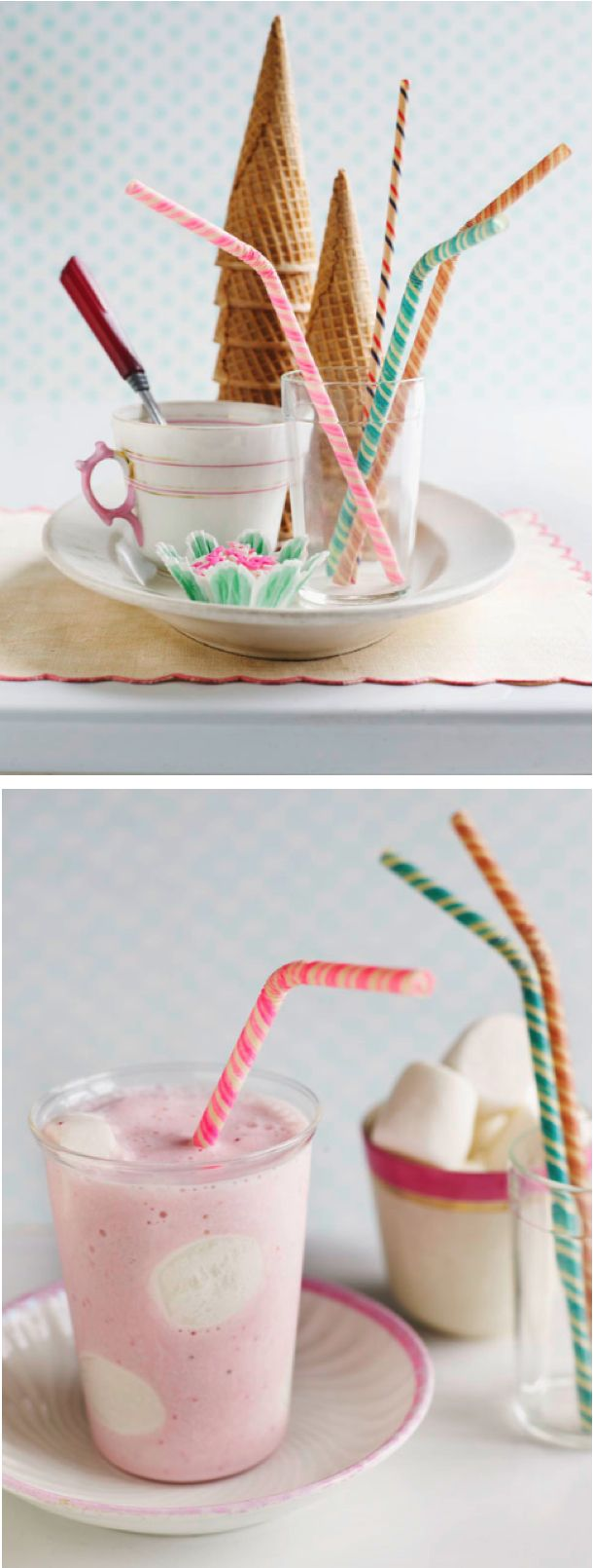 Vintage stripe straws by sweet paul