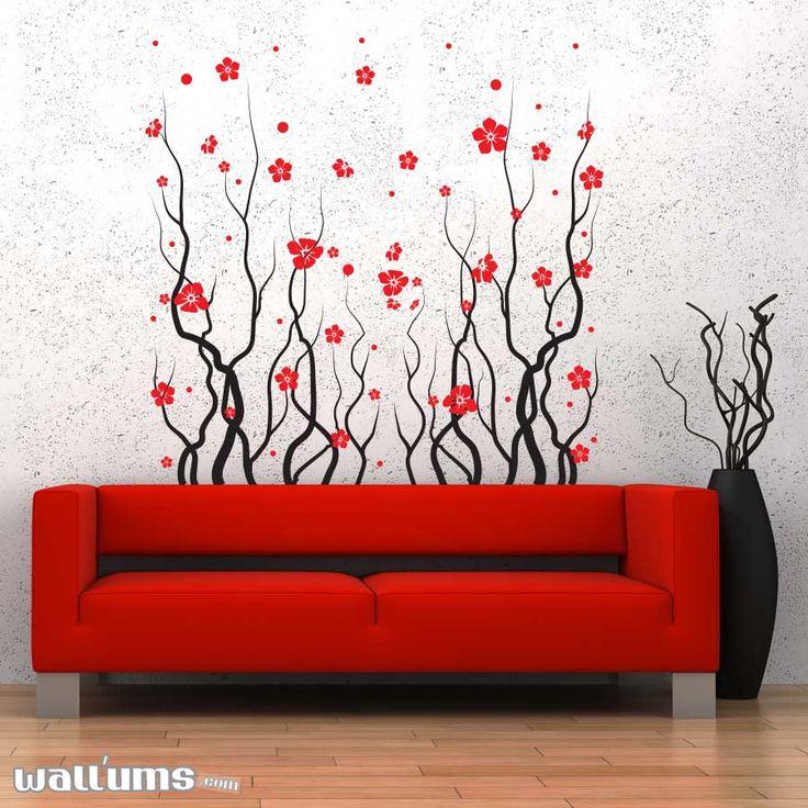 Purple Tulip Flowers Kitchen Vinyl Wall Stickers Home: Best 25+ Flower Wall Decals Ideas On Pinterest