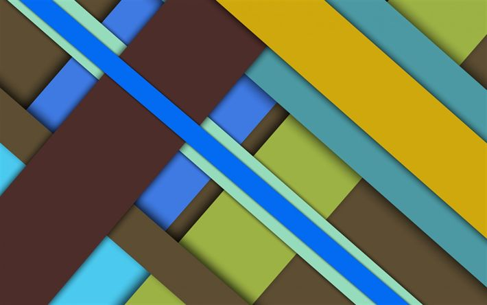 Download wallpapers geometric background, multicolored abstraction, material design, geometry, android