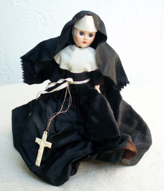 Vintage Collectible Nun Doll in her Habit by DollsInARow on Etsy, $12.00