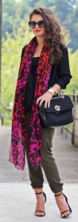 Daily New Fashion : Leo Print Scarf by Fashion Hippie Loves