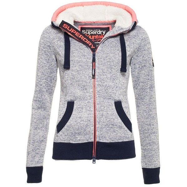 Superdry Storm Zip Hoodie ($98) ❤ liked on Polyvore featuring tops, hoodies, blue, women, embroidered hooded sweatshirts, superdry hoodie, hooded sweatshirt, zippered hooded sweatshirt and blue zip hoodie