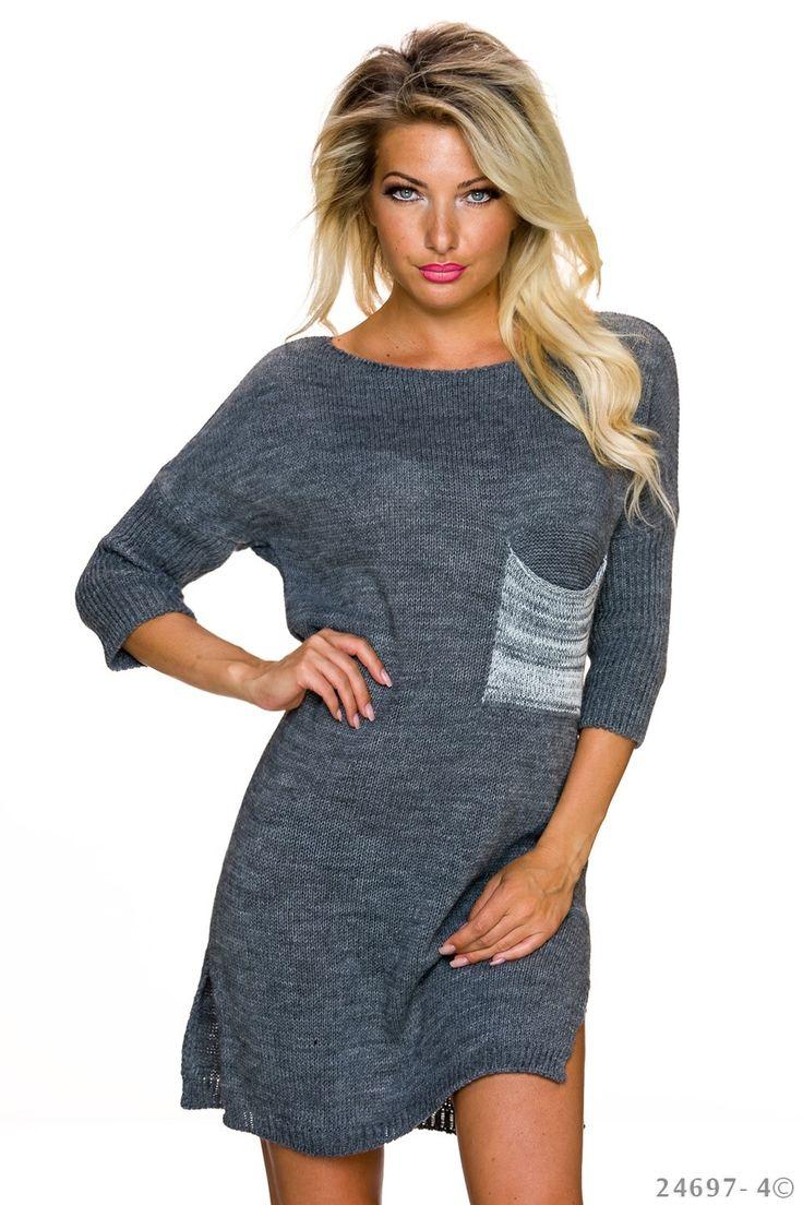 Rochie Soul Resource Grey. Rochie din material tricotat, ce iti aduce putina caldura pe zilele racoroase de toamna. Iti ofera eleganta, ascunzand micile imperfectiuni.